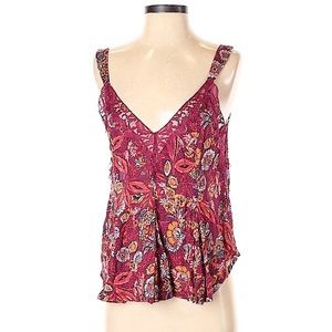 Free People Floral Sleeveless Blouse